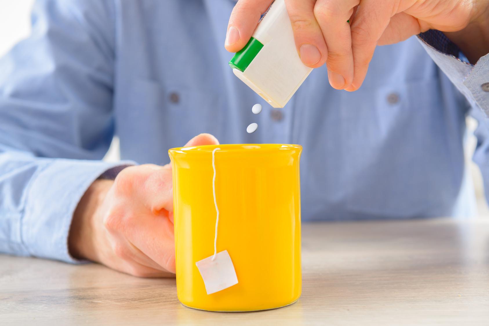 A edulcorante taza