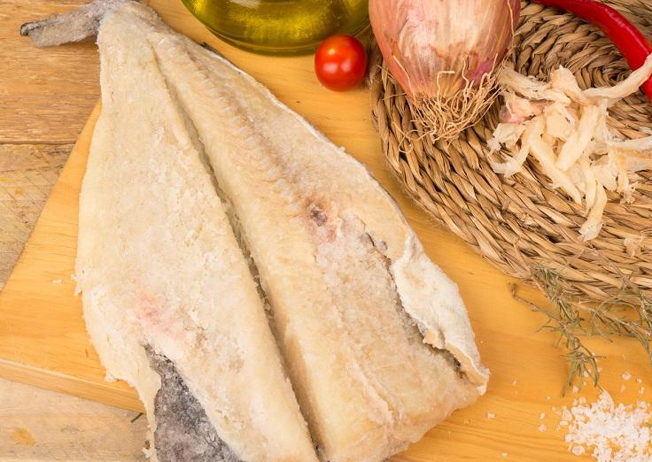 A bacaloa salazon entero