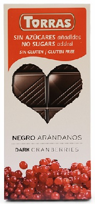 A chocolate arandanos red