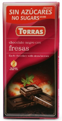 A chocolate fresas red