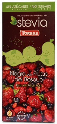A chocolate frutas bosque red