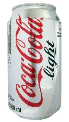 A cocacola light red