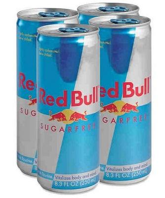 A redbull sugarfree red