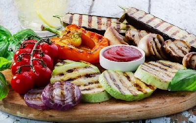 A verdura cocinada red