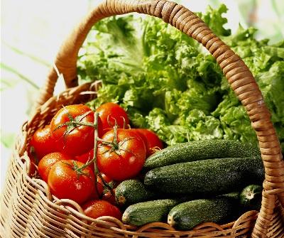 A verdura cruda red