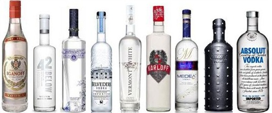 A vodka galeria/menus red