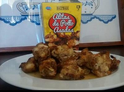 Carne preparada Alitas pollo