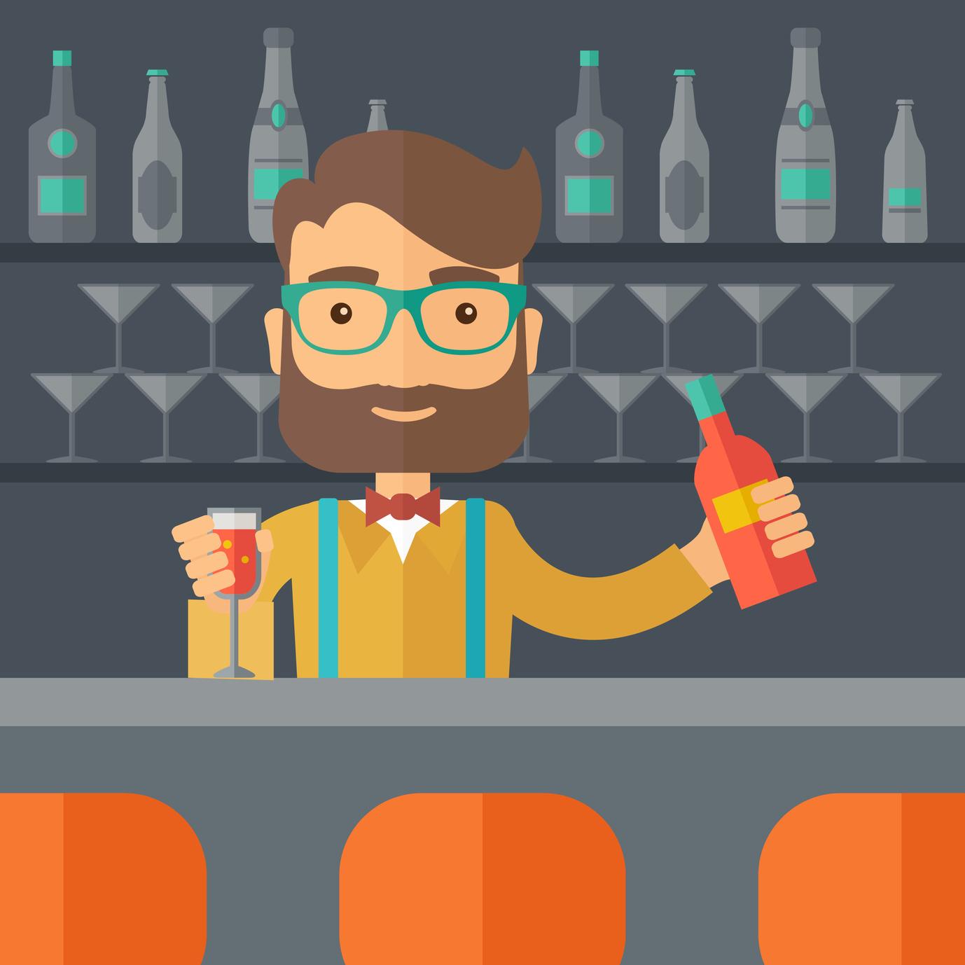 M barman dibujo