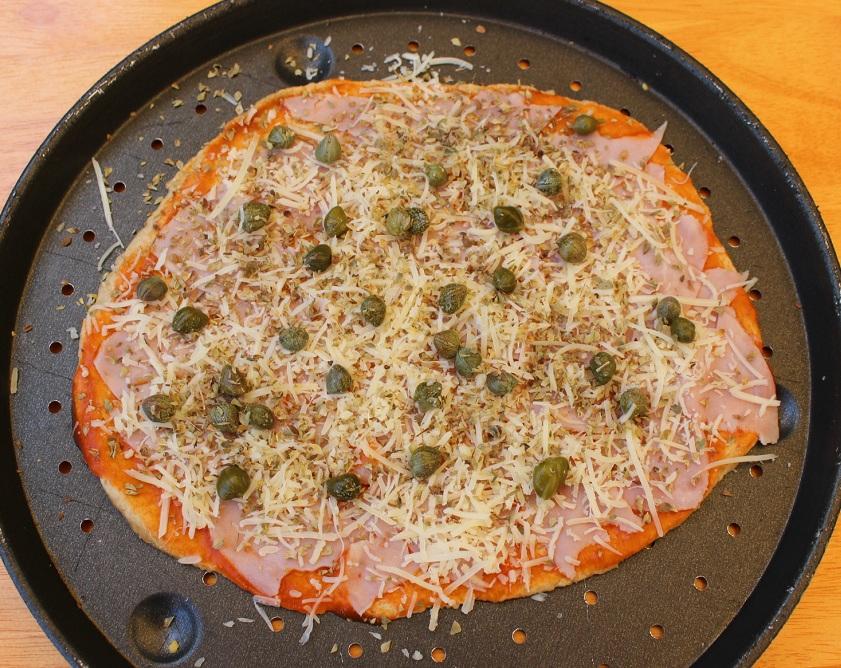 R pizza jamon cocido cruda RED