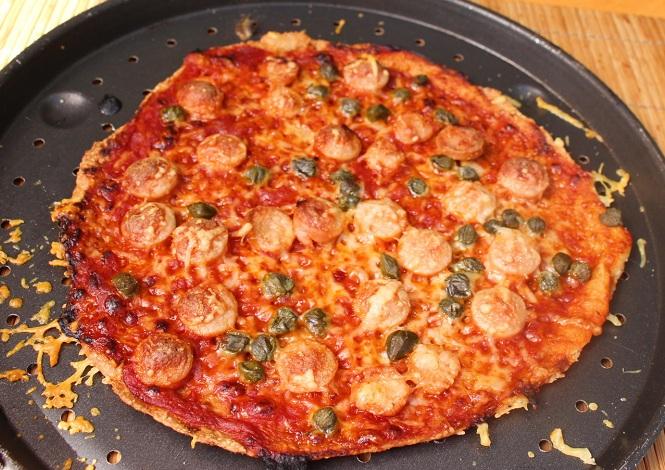 R pizza salchichas cocinada RED