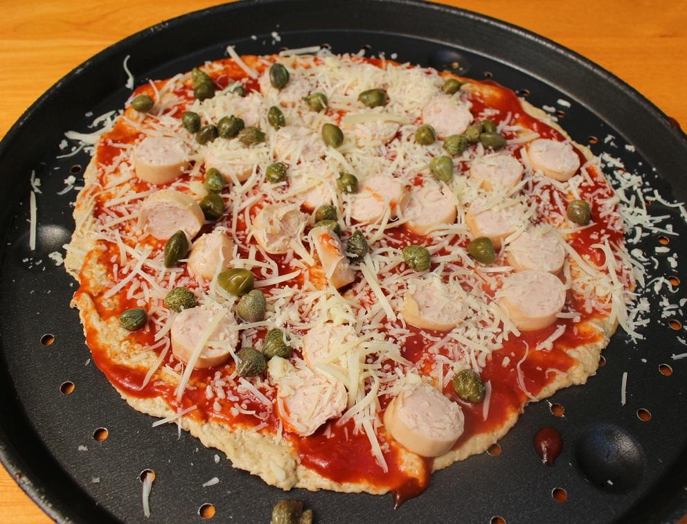 R pizza salchichas cruda RED